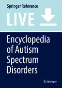 Encyclopedia of Autism Spectrum Disorders PDF