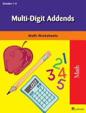 Multi-Digit Addends: Math Worksheets
