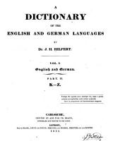 A Dictionary of the English and German Languages PDF