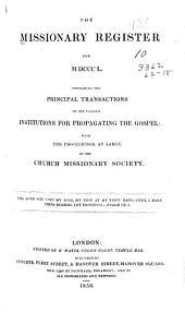 Missionary Register: Volume 38