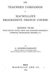 The Teacher S Companion To Macmillan S Progressive French Course Second Year  Book PDF