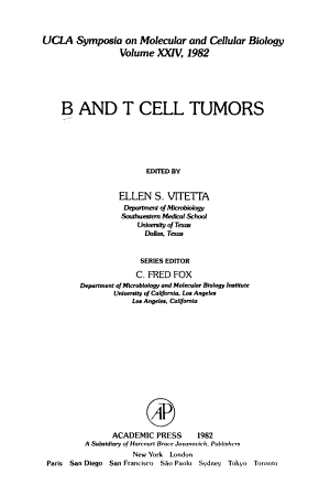 B and T cell tumors