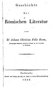 Geschichte der römischen Literatur: Band 4