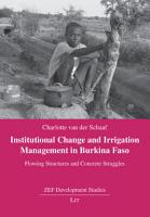 Institutional Change and Irrigation Management in Burkina Faso PDF