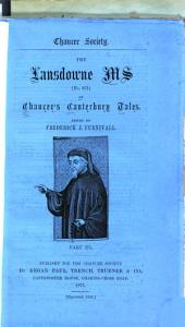 The Lansdowne Ms [851] of Chaucer's Canterbury Tales: Part 3