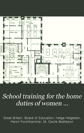 School Training for the Home Duties of Women ...