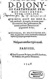 Summa fidei orthodoxae: libri II.
