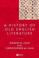 A History of Old English Literature PDF