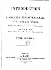 Introduction a l'analyse infinitésimale