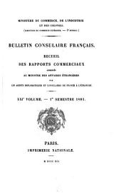 Bulletin consulaire français: Volumes21à22