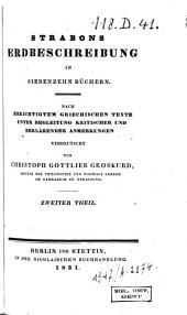 Strabons Erdbeschreibung in siebenzehn Büchern: Band 2