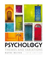 Psychology: Themes and Variations: Edition 10