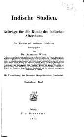 Indische studien: Beiträge für die kunde des indischen alterthums, Bände 13-14