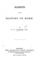 Elements of the History of Rome PDF