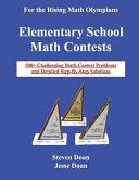 Elementary School Math Contests