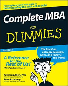Complete MBA For Dummies Book