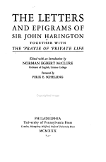The Letters and Epigrams of Sir John Harington