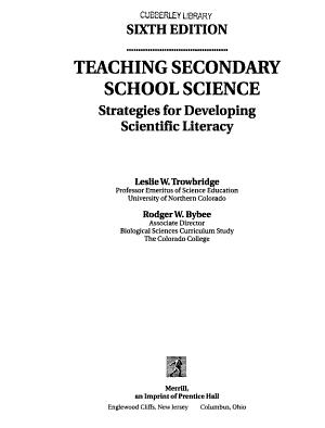 Teaching Secondary School Science PDF