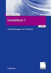 Investition I: Entscheidungen bei Sicherheit, Ausgabe 3