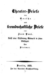 Theater Briefe von Goethe PDF
