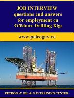 Job interview questions and answers for employment on Offshore Drilling Rigs PDF