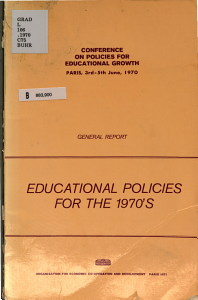 Educational Policies for the 1970 s PDF