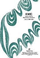 KWIC Index of Rock Mechanics Literature PDF