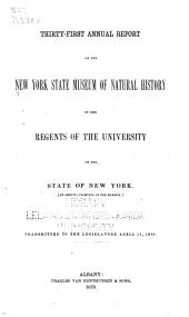 Annual Report on the New York State Museum of Natural History: Volume 31