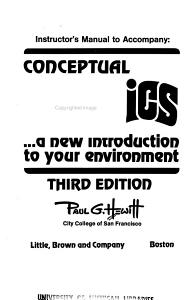 Instructor s Manual to Accompany Conceptual Physics Book