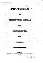 Proyecto de constitución militar del ejército del Peru