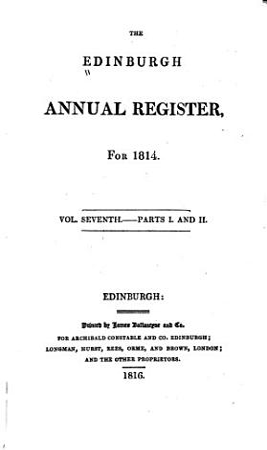 The Edinburgh Annual Register PDF