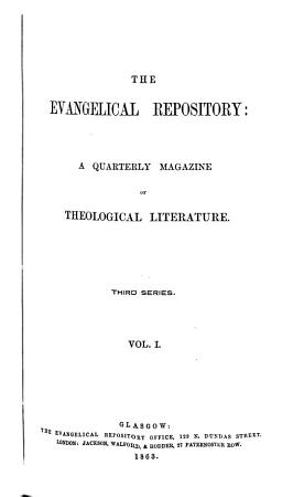 The Evangelical Repository PDF