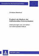 Englisch als Medium der interkulturellen Kommunikation PDF