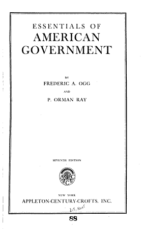 Essentials of American Government PDF