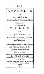Plates to the Geometrical and Graphical Essays