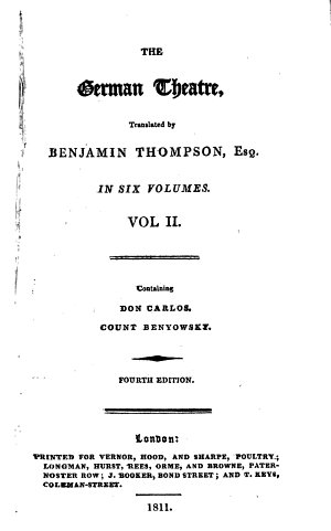 The German theatre  tr  by B  Thompson