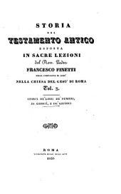 Storia del testamento antico esposta in sacre lezioni nella chiesa del Gesu di Roma: Volume 3