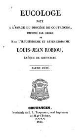 Eucologe noté à l'usage du diocèse de Coutances