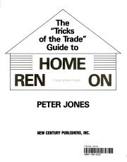 The  tricks of the Trade  Guide to Home Renovation PDF