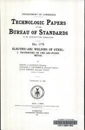 Electric-arc welding of steel: Properties of the arc-fused metal