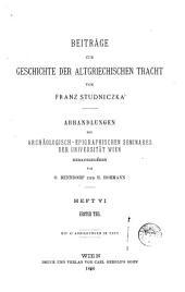 Beiträge zur Geschichte der altgriechischen Tracht: Band 1