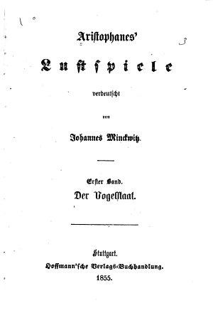 Aristophanes  Lustspiele PDF