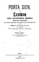 Porta Sion PDF