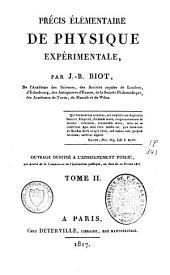 Précis élémentaire de physique expérimentale: Volume2
