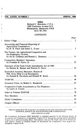 The Cooperative Accountant PDF