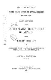 United States Courts of Appeals Reports: Cases Adjudged in the United States Circuit Court of Appeals, Volume 39