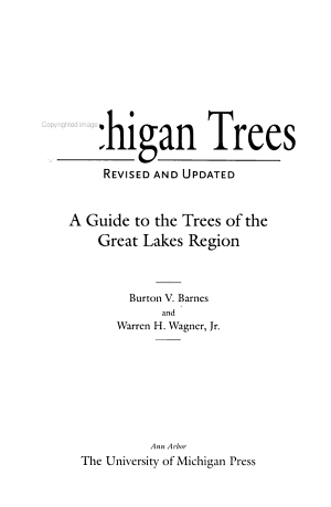Michigan Trees  Revised and Updated