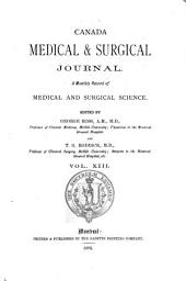 The Montreal Medical Journal: Volume 13