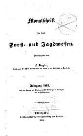 Monatschrift für das Forst- und Jagdwesen: 1861