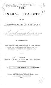 The General Statutes of the Commonwealth of Kentucky